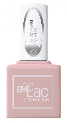 E.MI 147 WEC гель-лак для ногтей, Светящийся белый / E.MiLac 9 мл