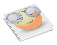 DEWAL BEAUTY Зеркало Смайлики очкарик, карманное квадратное, размер 60 х 60 х 0,9 мм