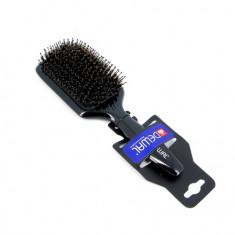 Dewal, Щетка массажная Black «Лопата», натуральная с пластиковым штифтом, 11 рядов