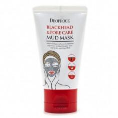 маска грязевая сужающая поры deoproce blackhead & pore care mud mask