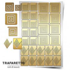 Trafaretto, Трафареты «Спирали. Квадрат»