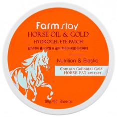 FARMSTAY Патчи гидрогелевые с золотом и лошадиным маслом для области вокруг глаз 60 шт