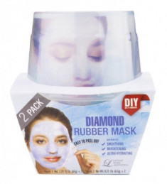 Альгинатная маска с алмазной пудрой (пудра+активатор) Lindsay Diamond Rubber Mask (65г+6,5г)*2