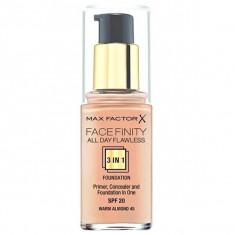 Max factor, facefinity all day flawless, тональная основа 3в1, тон 45, warm almond, 30 мл