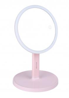 GEZATONE Зеркало косметологическое со светодиодной подсветкой, розовое LM208