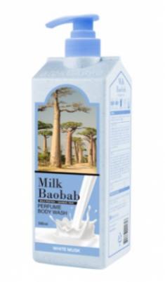 Гель для душа с ароматом белого мускуса MILK BAOBAB Body Wash White Musk 500мл