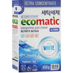 Ecomatic White Концентрированный стиральный порошок 450г