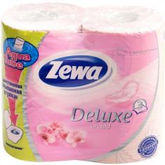 Zewa Бумага туалетная Делюкс трехслойная Орхидея 4шт