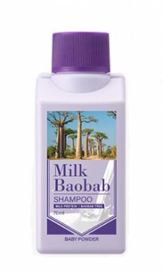 Шампунь для волос с ароматом детской присыпки Milk Baobab Original Shampoo Baby Powder Travel Edition 70мл