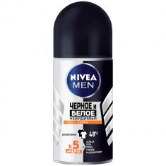 Nivea дезодорант ролик для мужчин Черное и белое Невидимый Extra 50мл