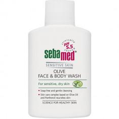 Sebamed Sensitive skin Гель для лица и тела очищающий оливковый Olive Face&Body Wash 200мл