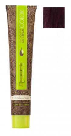 Краска для волос Macadamia Oil Cream Color 5.2 СВЕТЛЫЙ РАДУЖНЫЙ КАШТАНОВЫЙ 100мл