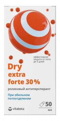 Витатека Драй экстра форте ролик от обильного потоотделения 30% 50мл Vitateka