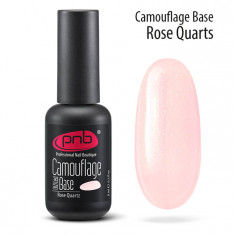 PNB База каучуковая камуфлирующая розовый кварц / Camouflage Base PNB UV/LED, Rose Quatz 8 мл