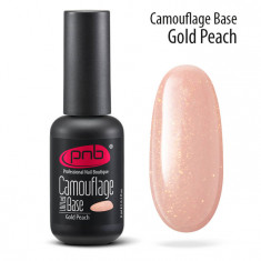 PNB База каучуковая камуфлирующая золотисто-персиковая / Camouflage Base PNB UV/LED, Gold Peach 8 мл