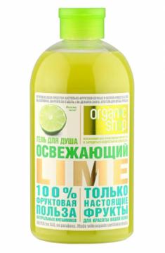 """Гель для душа Фрукты Organic Shop """"Освежающий lime"""" 500мл"""