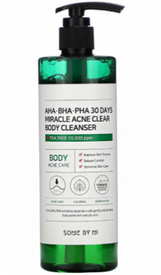 Очищающий гель для тела с кислотами SOME BY MI AHA·BHA·PHA 30 DAYS MIRACLE ACNE CLEAR BODY CLEANSER 400г